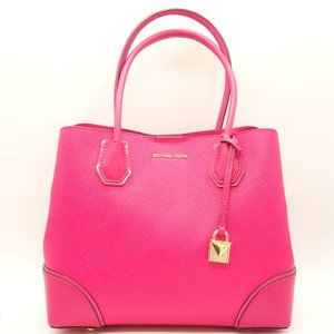 NWT MICHAEL KORS Medium Mercer Corner Leather Tote